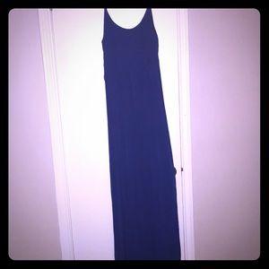 Full length blue sundress